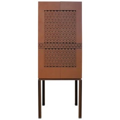 Modern Metal Cabinet with Medieval Lattice Design