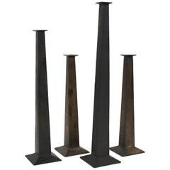 Modern Metal Candlestick Set