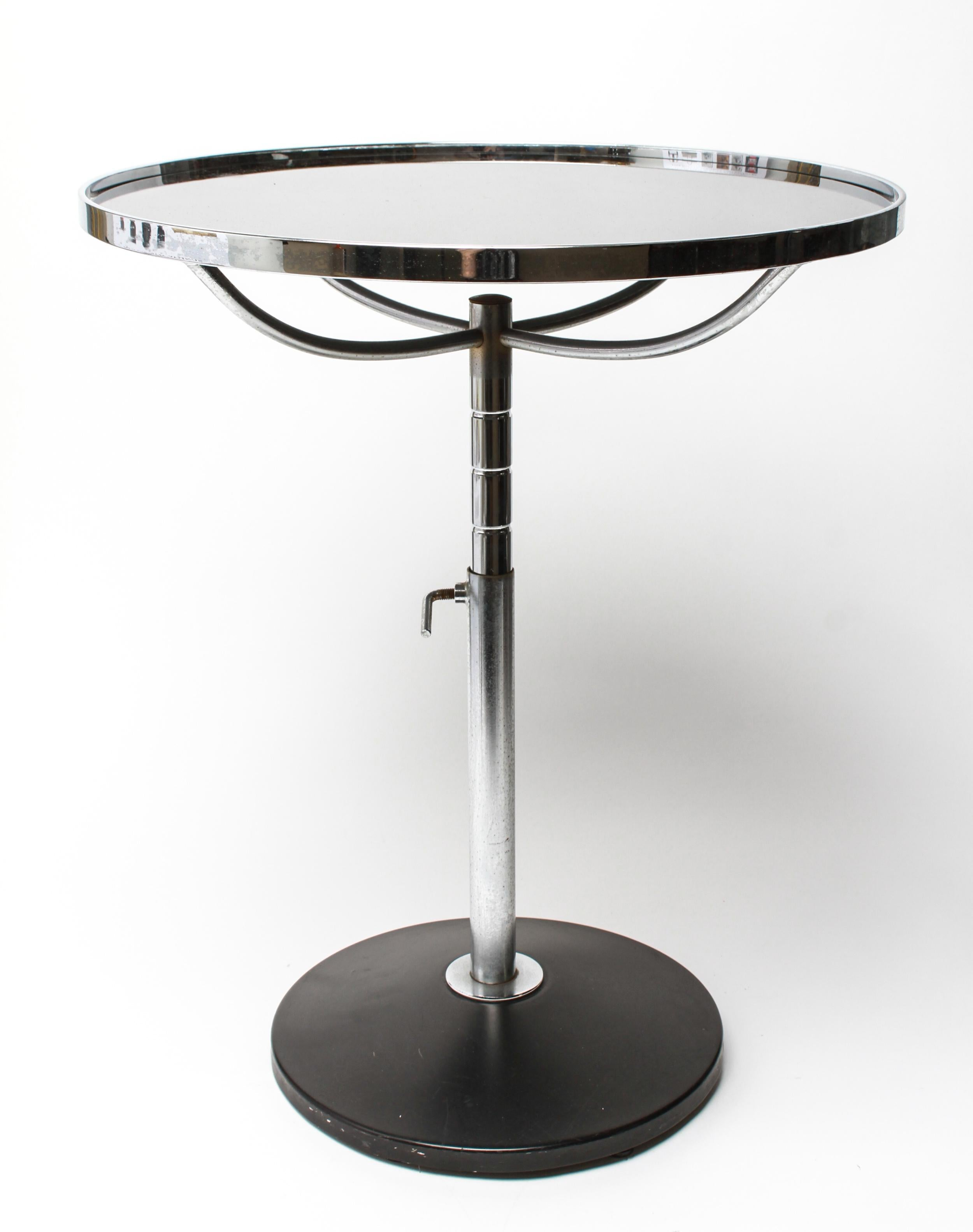 Modern Metal Circular Side Table With Adjustable Height