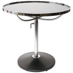 Modern Metal Circular Side Table With Adjustable Height