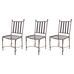 Modern Metal Patio Chairs in Style of Giacometti