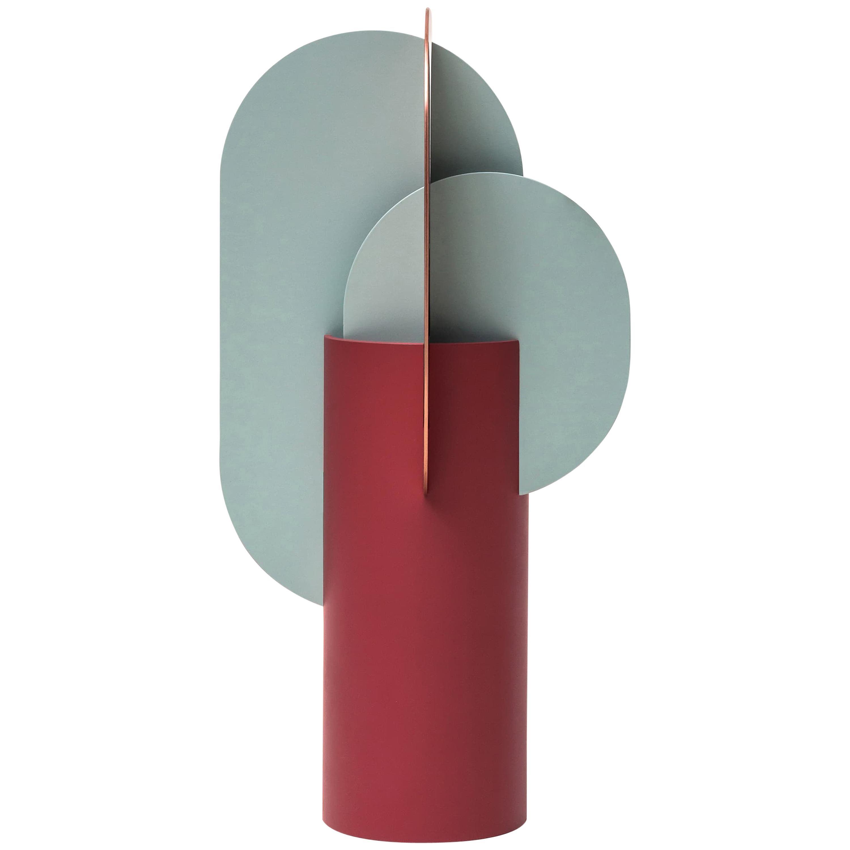 Modern Metal Vase Ekster CS1 by Noom in Copper and Steel