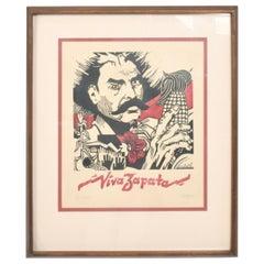 Modern Mexico Viva Zapata Xylography Wood Print, 1981