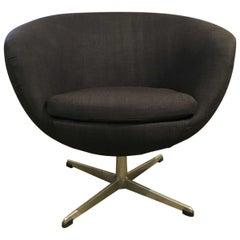 Modern Midcentury Overman Sweden Swivel Pod Accent Chair