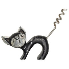 Adorable CAT Corkscrew Bottle Wine Opener Walter Bosse Modern Era