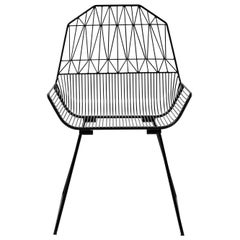 Modern, Midcentury Inspired Wire Lounge Chair, the Farmhouse in Black