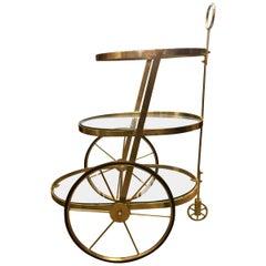Modern Midcentury Italian Tiered Bar Cart