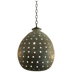 Modern Midcentury Pierced Hanging Light 21st Century