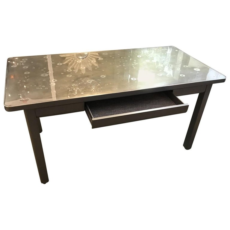 Modern Military Style Steel Writing Desk For Sale