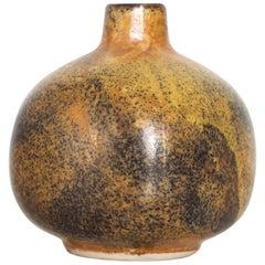 Modern Mini Weed Pot Honey Glazed Ceramic California Studio Pottery, 1960s