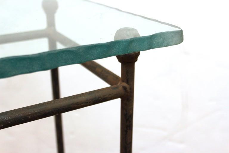 Modern Minimalist Metal & Glass Side Tables or Pedestals For Sale 8