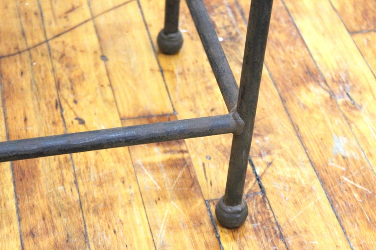 Modern Minimalist Metal & Glass Side Tables or Pedestals For Sale 4