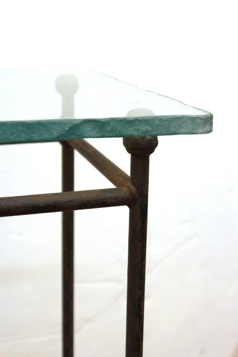 Modern Minimalist Metal & Glass Side Tables or Pedestals For Sale 5