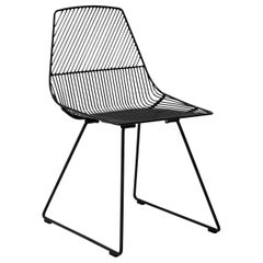 Modern Minimalist Side Chair, Ethel Chair in Black by Bend Goods