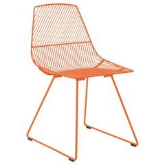 Modern Minimalist Side Chair, Ethel Chair in Orange by Bend Goods