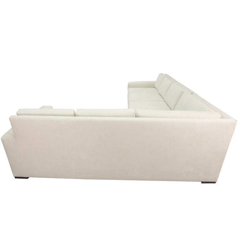 Wood Modern Minimalistic Sectional Sofa For Sale