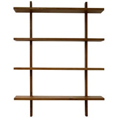 Modern Modular Shelf, Bookcase, Mod. NL38 Nathan Lindberg, Solid Oak Wall Unit
