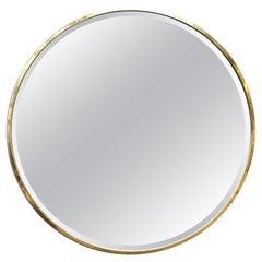 Modern Monumental Circular Wall Mirror