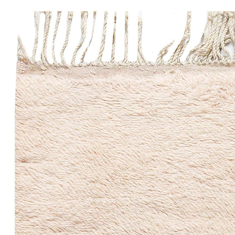 Modern Moroccan Beige, Brown & Pink Hand Knotted Wool Rug 2