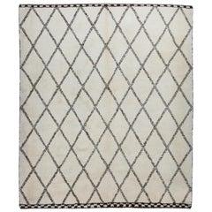 Modern Moroccan Beni Ourain Rug Made of Natura Un-Dyed Wool, Custom Options Av.
