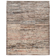 Modern Moroccan-Style Room Size Wool Rug