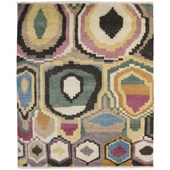 Modern Moroccan Style Rug with Contemporary Style