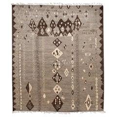 Modern Moroccan-Style Tribal Room Size Wool Rug