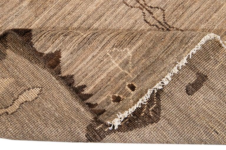 Pakistani Modern Moroccan-Style Tribal Wool Rug For Sale