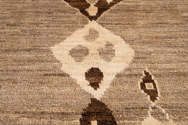 Modern Moroccan-Style Tribal Wool Rug For Sale 1