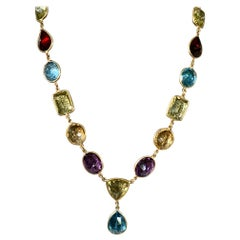 Modern Multicolored 18 Karat Necklace