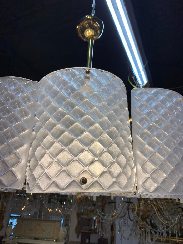 Italian Modern Murano Glass Chandelier For Sale