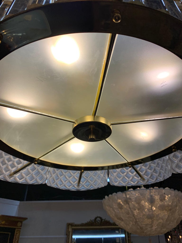 Contemporary Modern Murano Glass Chandelier For Sale