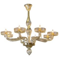 Modern Murano Glass Chandeliers with 8 Arms