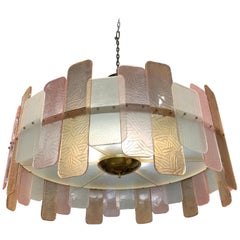 Modern Murano Glass Multicolored Round Chandelier