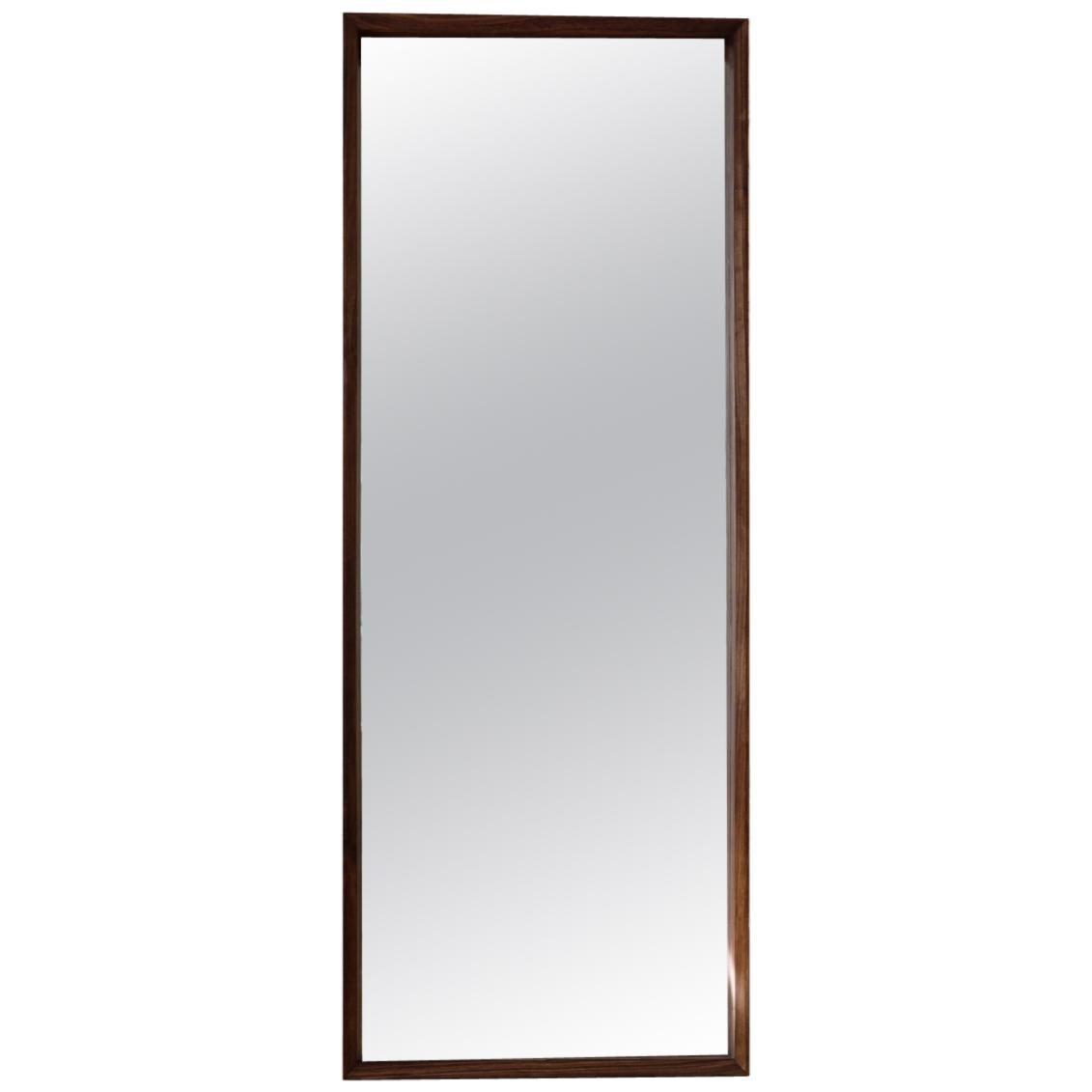 Modern Nakashima Style Modern Handmade Large Format Floor Standing Mirror