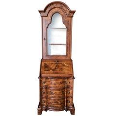 Modern Neoclassic Rococo Curio Display Case & Secretary Desk