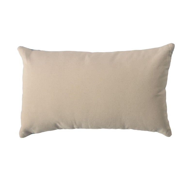 Modern Nicole Ivory/Ebony Hand Embroidered Wool and Metallic Throw Pillow Cover In New Condition For Sale In Westfield, NJ