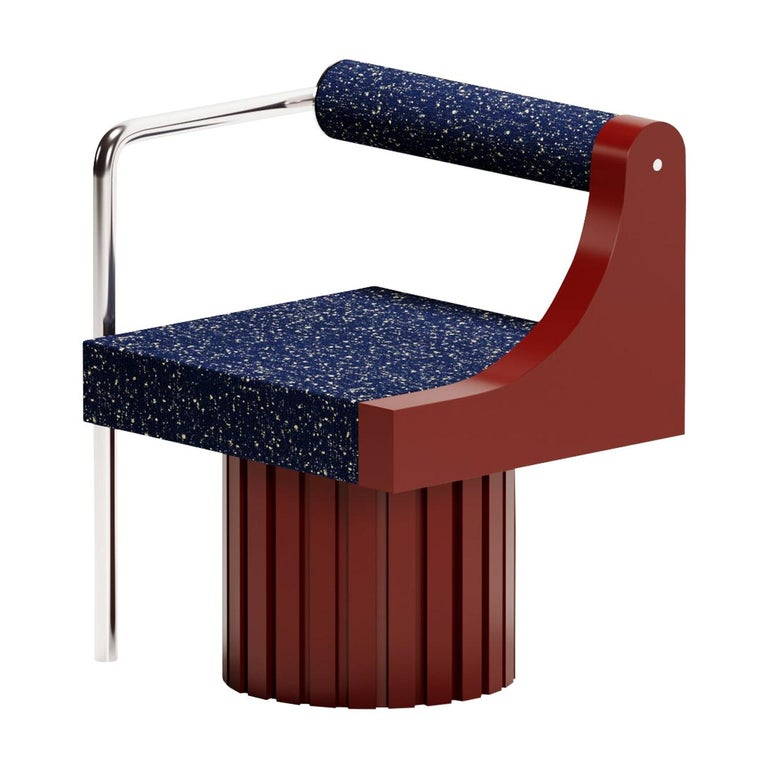 "Modern ""Normative-Chair"" in Limited Burgundy Edition For Sale"