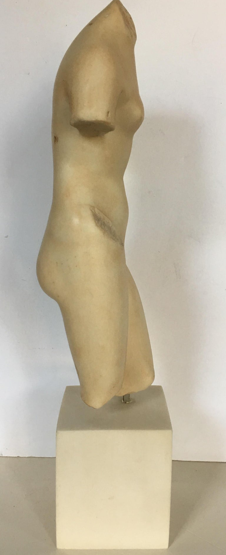 Modern Nude Female Figure Torso Bust Sculpture, Modern Museum of Art In Good Condition For Sale In Lambertville, NJ