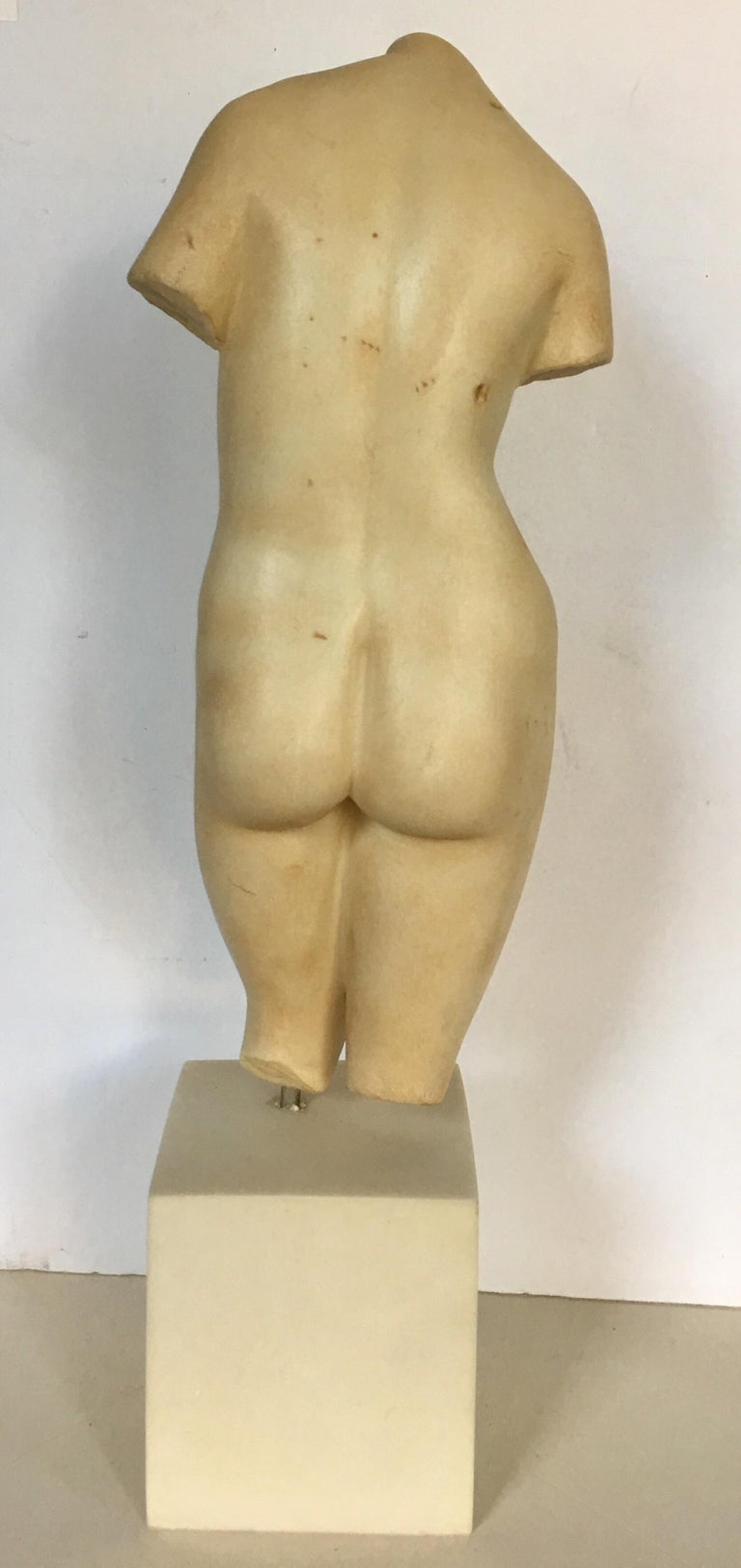 Late 20th Century Modern Nude Female Figure Torso Bust Sculpture, Modern Museum of Art For Sale