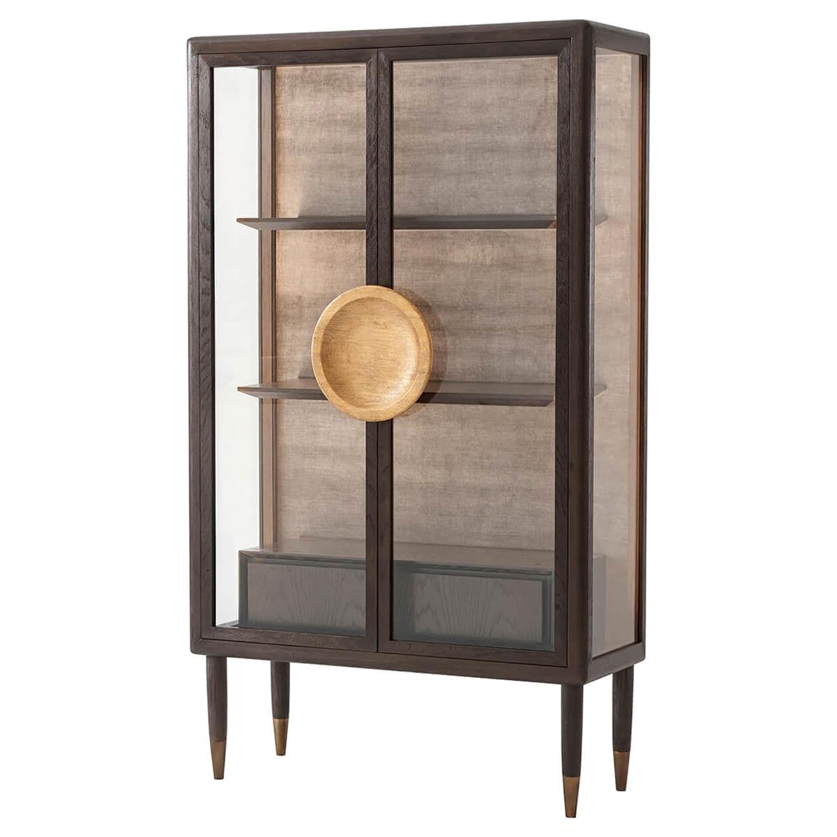 Modern Oak Display Cabinet