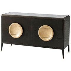 Modern Oak Marble Top Dresser