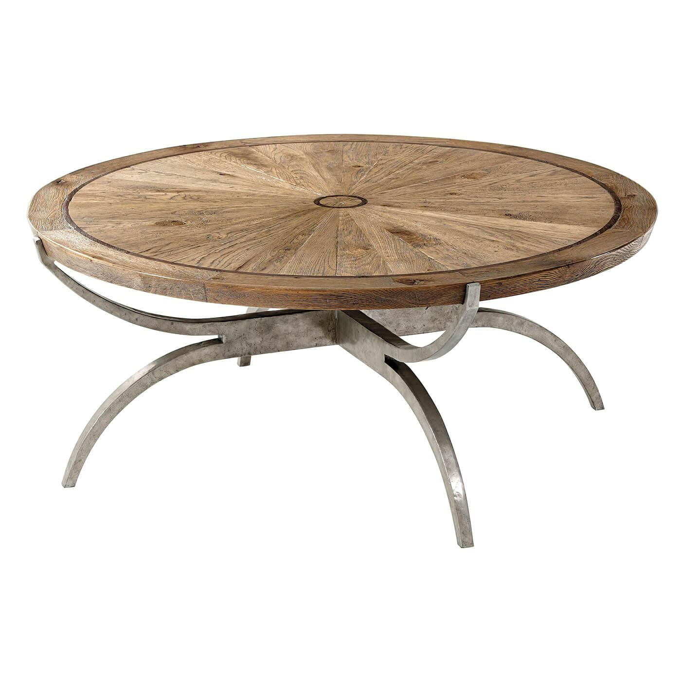 Modern Oak Round Coffee Table