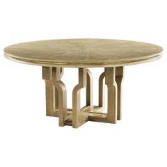 Modern Oak Round Dining Table