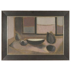Modern Oil on Canvas Still Life by Eugenio Tomiolo, circa 1954