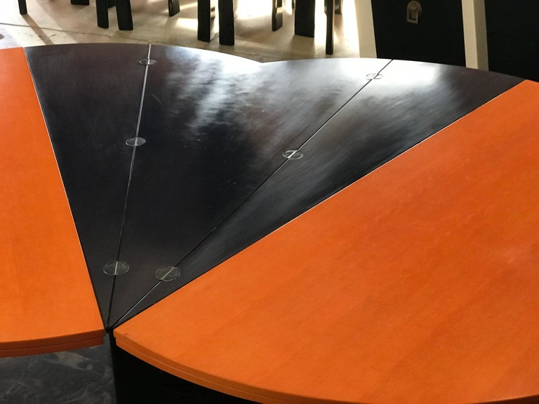 Modern Orange and Blue Dining Table by Castelijn For Sale 3