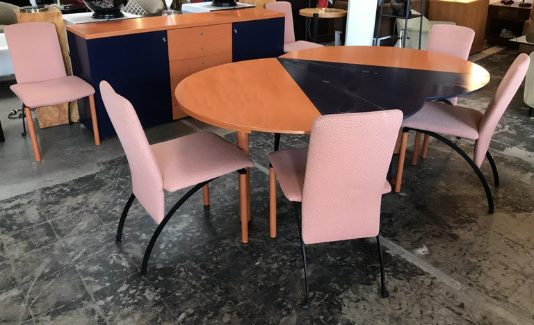 Modern Orange and Blue Dining Table by Castelijn For Sale 5
