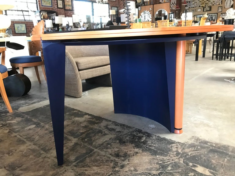 Modern Orange and Blue Dining Table by Castelijn For Sale 1