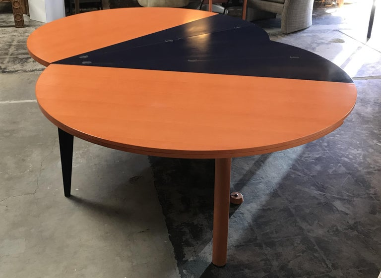 Modern Orange and Blue Dining Table by Castelijn For Sale 2