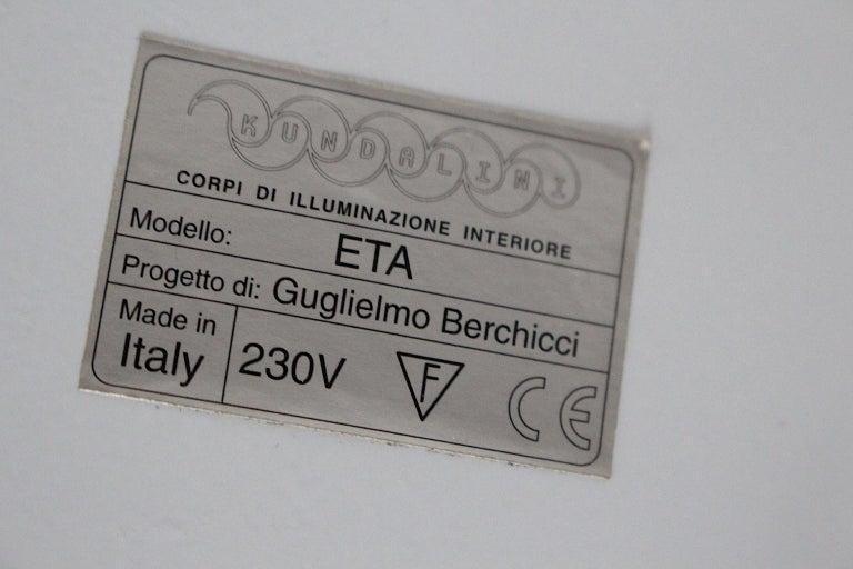 Modern Orange Vintage Guglielmo Berchicci E.T.A. Floor Lamp for Kundalini, Italy For Sale 5